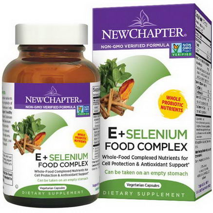 New Chapter, E + Selenium Food Complex, 60 Veggie Caps