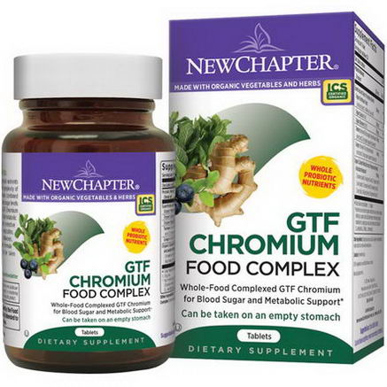 New Chapter, GTF Chromium Food Complex, 60 Tablets