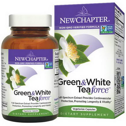 New Chapter, Green & White Tea Force, 60 Veggie Caps