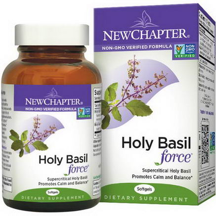New Chapter, Holy Basil Force, 120 Softgels