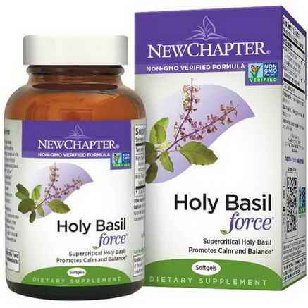 New Chapter, Holy Basil Force, 60 Softgels