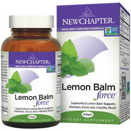 New Chapter, Lemon Balm Force, 30 Softgels