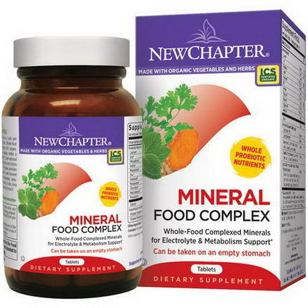 New Chapter, Mineral Food Complex, 90 Tablets