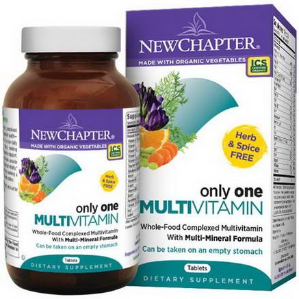 New Chapter, Only One Multivitamin, 72 Tablets
