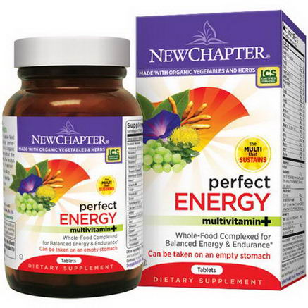 New Chapter, Perfect Energy Multivitamin, 72 Tablets