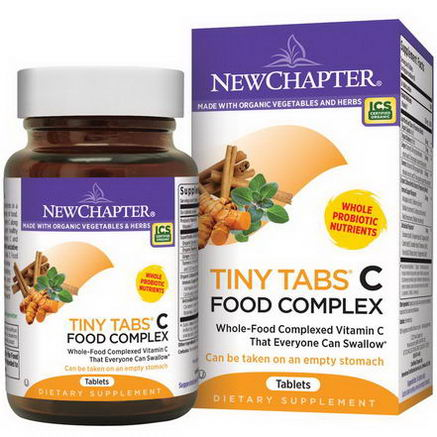 New Chapter, Tiny Tabs C Food Complex, 240 Tablets