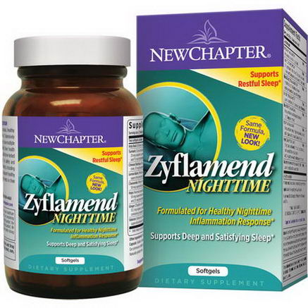 New Chapter, Zyflamend Nighttime, 60 Softgels