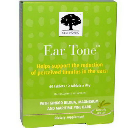 New Nordic US Inc, Ear Tone, 60 Tablets