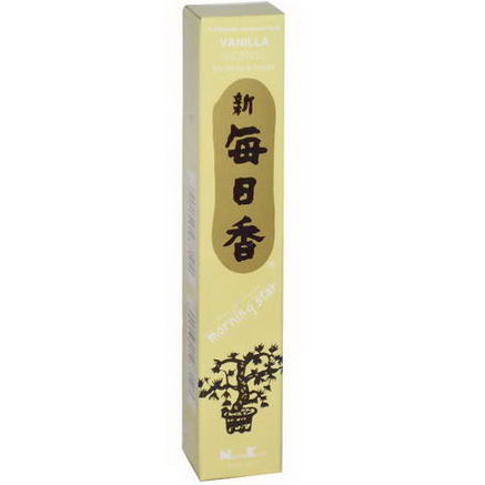 Nippon Kodo, Morning Star, Vanilla Incense, 50 Sticks & Holder