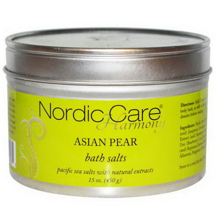 Nordic Care, LLC. Harmony, Bath Salts, Asian Pear, 15oz (450g)