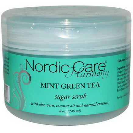 Nordic Care, LLC. Harmony, Sugar Scrub, Mint Green Tea, 8oz (240 ml)