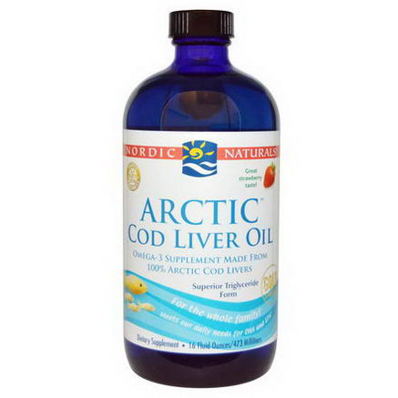 Nordic Naturals, Arctic Cod Liver Oil, Strawberry, 16 fl oz (473 ml)