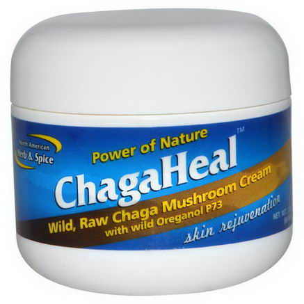 North American Herb & Spice Co. Power of Nature, ChagaHeal, Skin Rejuvenation, 2oz (60 ml)