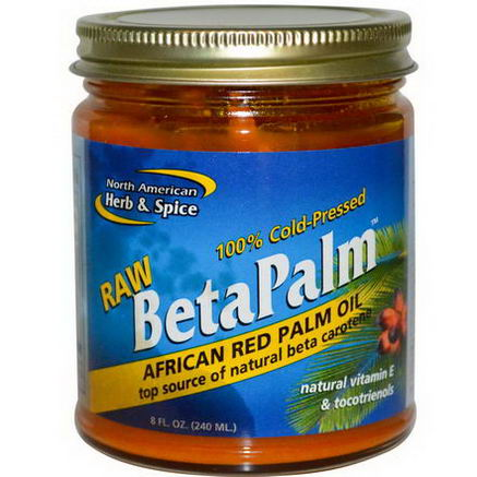 North American Herb & Spice Co. Raw BetaPalm, African Red Palm Oil, 8 fl oz (240 ml)