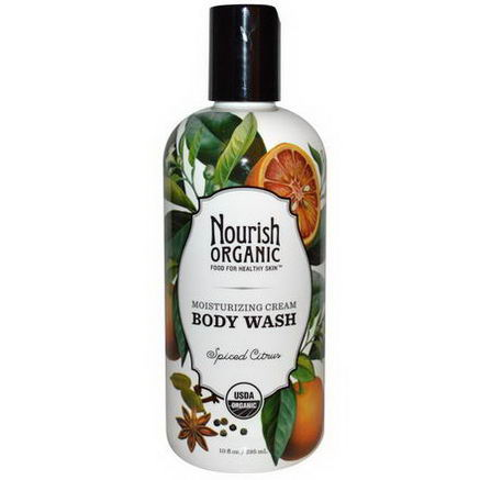 Nourish Organic, Body Wash, Spiced Citrus, 10 fl oz (295 ml)