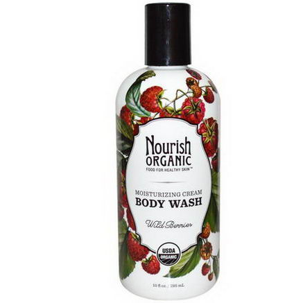 Nourish Organic, Body Wash, Wild Berries, 10 fl oz (295 ml)