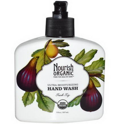 Nourish Organic, Hand Wash, Ultra-Moisturizing, Fresh Fig, 7 fl oz (207 ml)