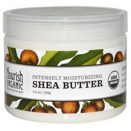 Nourish Organic, Intensely Moisturizing Shea Butter, 5.5oz (155g)