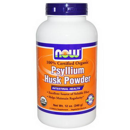Now Foods, 100% Certified Organic, Psyllium Husk Powder, 12oz (340g)