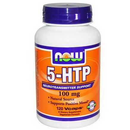 Now Foods, 5-HTP, 100mg, 120 Vcaps