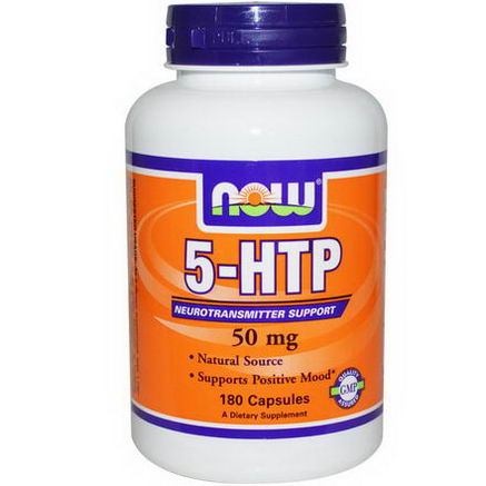 Now Foods, 5-HTP, 50mg, 180 Capsules