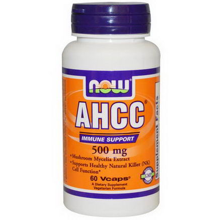 Now Foods, AHCC, Immune Support, 500mg, 60 Vcaps