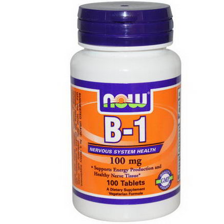 Now Foods, B-1, 100mg, 100 Tablets