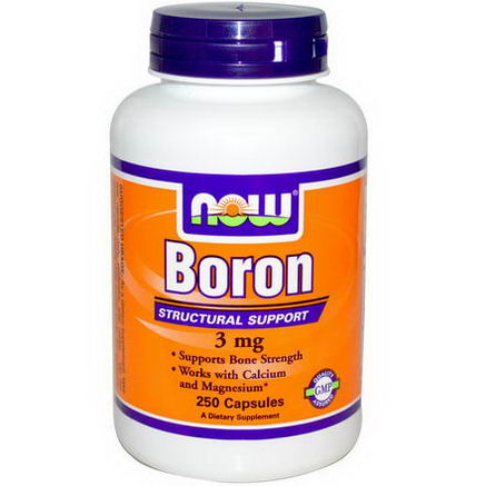 Now Foods, Boron, 3mg, 250 Capsules