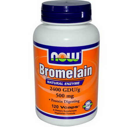 Now Foods, Bromelain, 500mg, 120 Veggie Caps