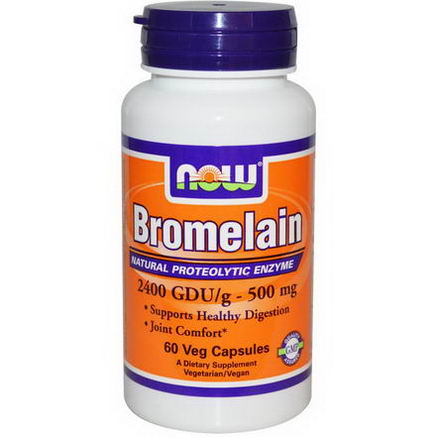 Now Foods, Bromelain, 500mg, 60 Veggie Caps
