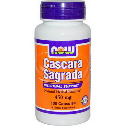 Now Foods, Cascara Sagrada, 450mg, 100 Capsules