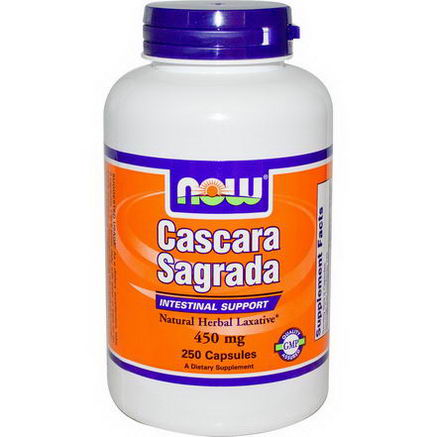 Now Foods, Cascara Sagrada, 450mg, 250 Capsules