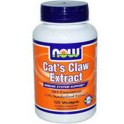 Now Foods, Cat's Claw Extract, 120 Vcaps
