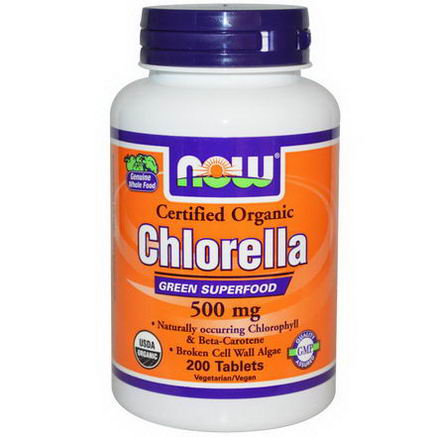 Now Foods, Certified Organic Chlorella, 500mg, 200 Tablets