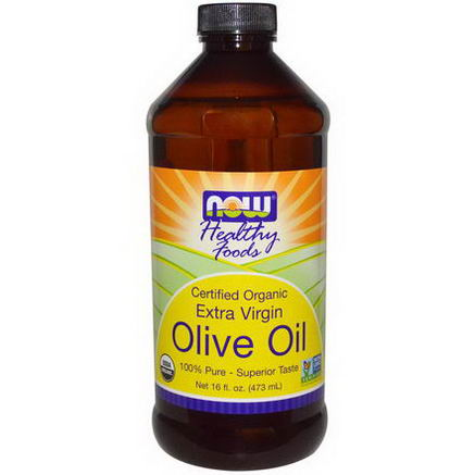 Now Foods, Certified Organic, Extra Virgin, Olive Oil, 16 fl oz (473 ml)
