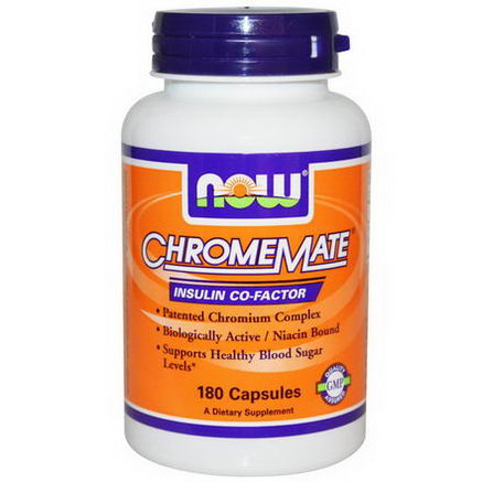 Now Foods, Chromemate, 180 Capsules
