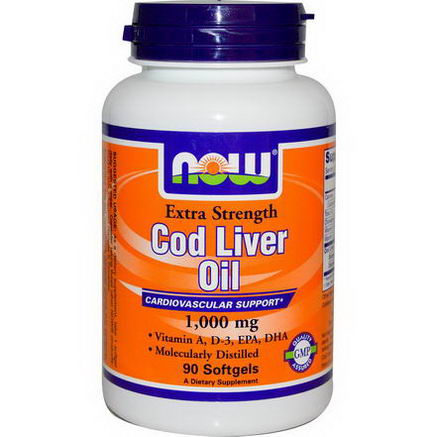 Now Foods, Cod Liver Oil, Extra Strength, 1, 000mg, 90 Softgels