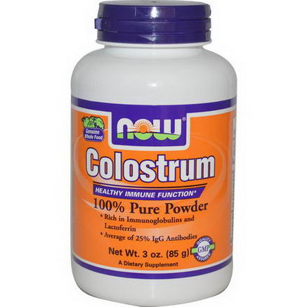 Now Foods, Colostrum 100% Pure Powder, 3oz (85g)