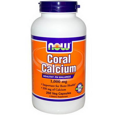 Now Foods, Coral Calcium, 1, 000mg, 250 Veggie Caps
