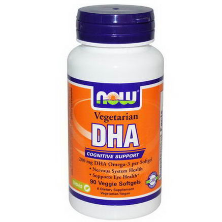 Now Foods, DHA, Cognitive Support, 200mg, 90 Veggie Softgels