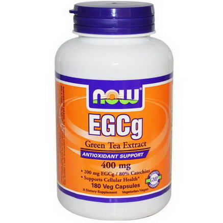 Now Foods, EGCg, Green Tea Extract, 400mg, 180 Veggie Caps