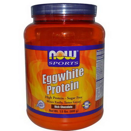 Now Foods, Eggwhite Protein, Rich Chocolate, 1.5 lbs (680g)