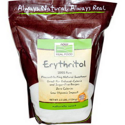 Now Foods, Erythritol, Natural Sweetener, 2.5 lbs (1134g)