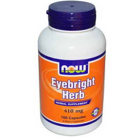 Now Foods, Eyebright Herb, 410mg, 100 Capsules