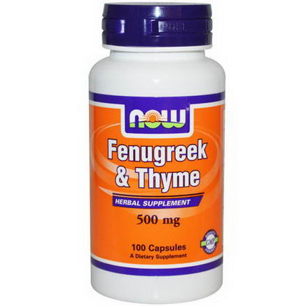 Now Foods, Fenugreek & Thyme, 500mg, 100 Capsules