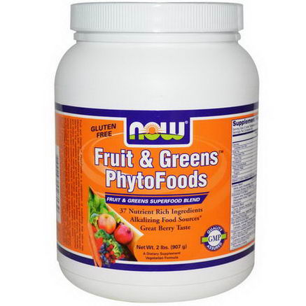 Now Foods, Fruit & Greens PhytoFoods, Berry, 2 lbs (907g)