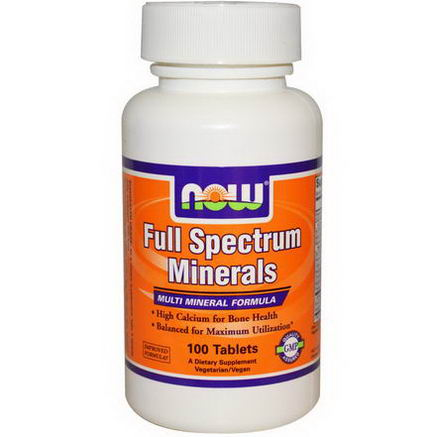 Now Foods, Full Spectrum Minerals, 100 Tablets