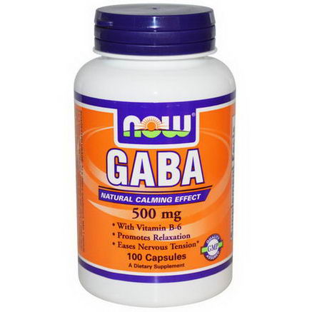 Now Foods, GABA, 500mg, 100 Capsules