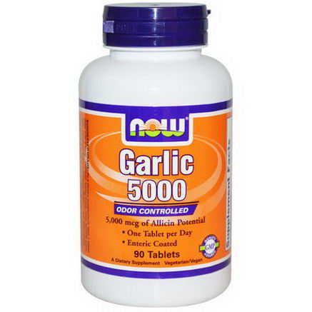 Now Foods, Garlic 5000, 90 Tablets