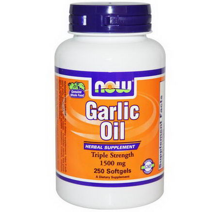 Now Foods, Garlic Oil, 1500mg, 250 Softgels